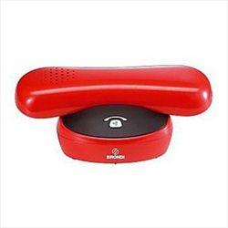 GILDA ROJO/NEGRO - Teléfono inalámbrico DECT. Display iluminado. Manos libres