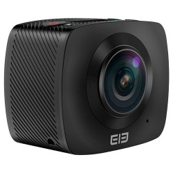 Camara de deportes Elephone Elecam360. Videos Full HD y fotos 4K en formato 360 grados. Wifi integrado. Color negro.