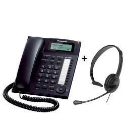 Pack Panasonic KX-TS880EXB negro + Auricular Panasonic TCA 400 jack 2.5