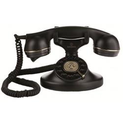 VINTAGE 10-B - Teléfono sobremesa estilo vintage. Color NEGRO.