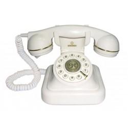 VINTAGE 20-W - Teléfono sobremesa estilo vintage. Color BLANCO.