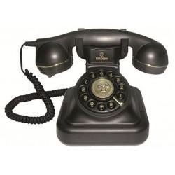 VINTAGE 20-B - Teléfono sobremesa estilo vintage. Color NEGRO.