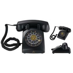 VINTAGE 30-B - Teléfono sobremesa estilo vintage. Diseño innovador. Color NEGRO.
