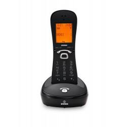 GILDA NEGRO/NEGRO - Teléfono inalámbrico DECT. Display iluminado. Manos libres.
