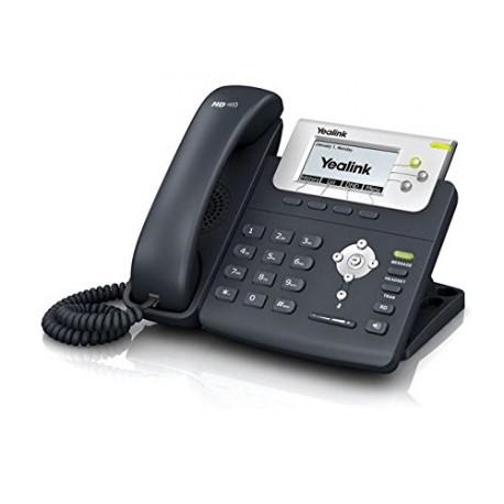 Teléfono  IP Yealink T22P con posibilidad de montaje en pared.