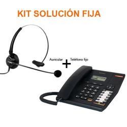 Kit solución oficina Teléfono + Auricular Manos Libres